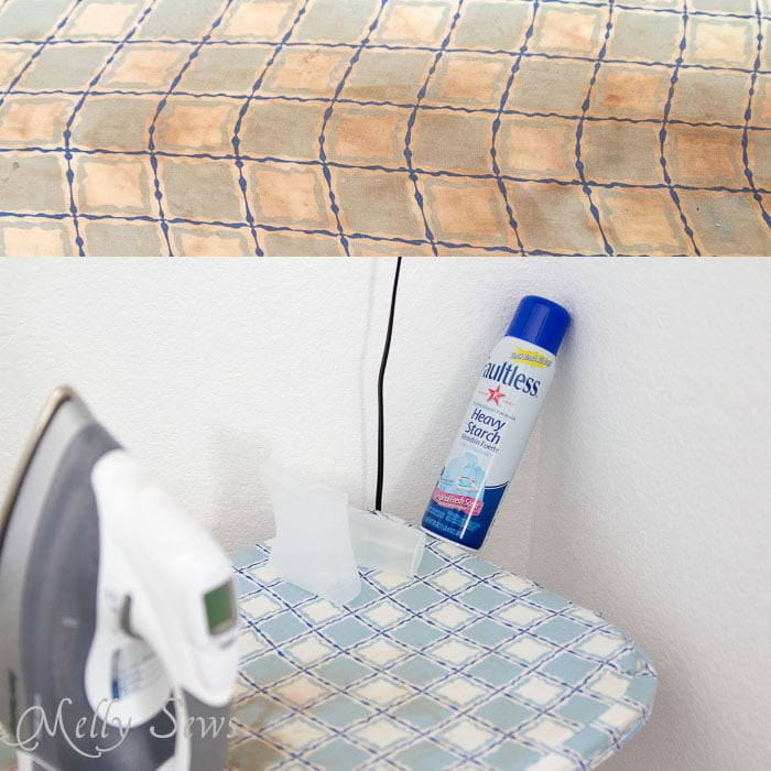 Ugly discolored ironing board cover