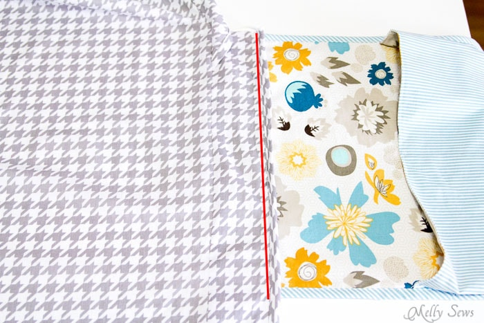Attach pocket - Ironing Board Cover and storage pocket - http://mellysews.com