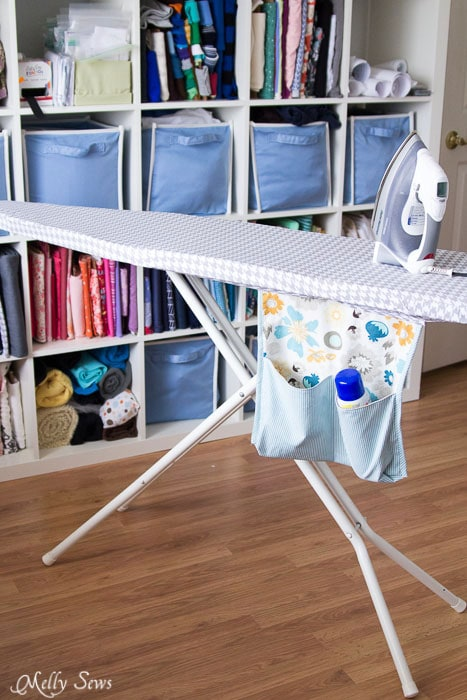 How to Make an Ironing Board Cover that fits tightly - https://mellysews.com