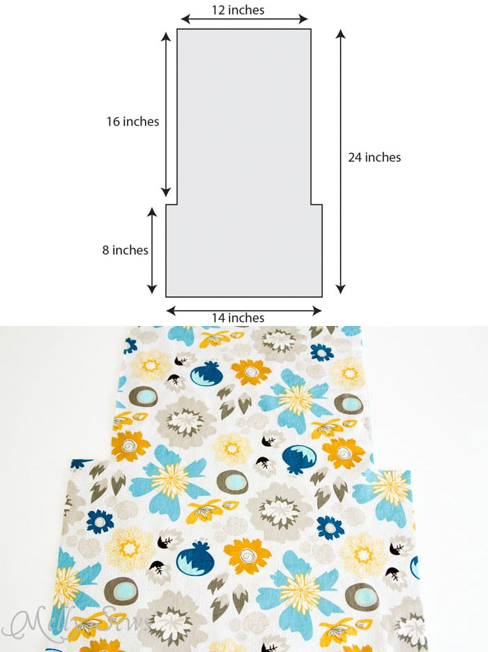 Step 7 -  Ironing Board Cover and storage pocket - http://mellysews.com