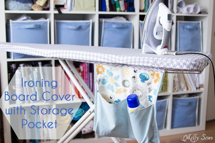 Ironing Board Cover and storage pocket - https://mellysews.com