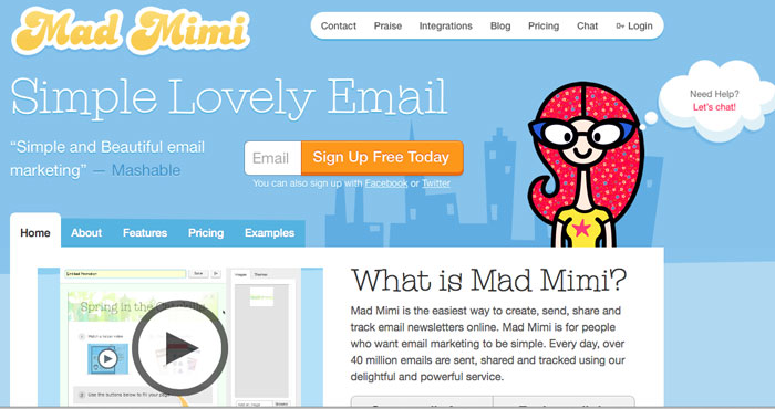 Mad Mimi - for email newsletters - Tech Tips with http://mellysews.com