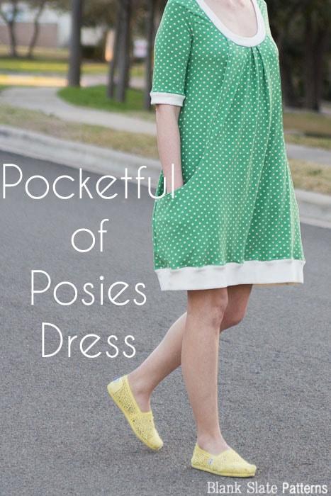 Pocketful of Posies Dress - Womens PDF Sewing Pattern by http://blankslatepatterns.com