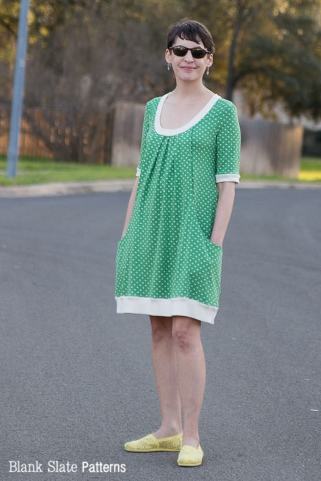 Full View - Pocketful of Posies Dress - Womens PDF Sewing Pattern by http://blankslatepatterns.com