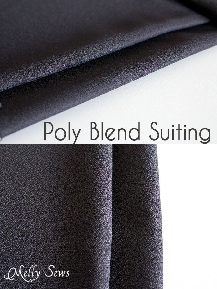 Poly Blend Suiting - Suit Fabrics - https://mellysews.com