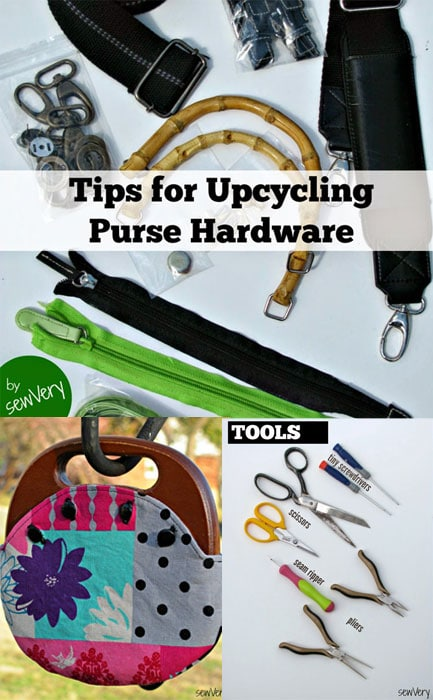 Tips and tricks for salvaging purse hardware - sewVery.blogspot.com for http:mellysews.com