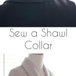 How to Sew a Shawl Collar - http://mellysews.com