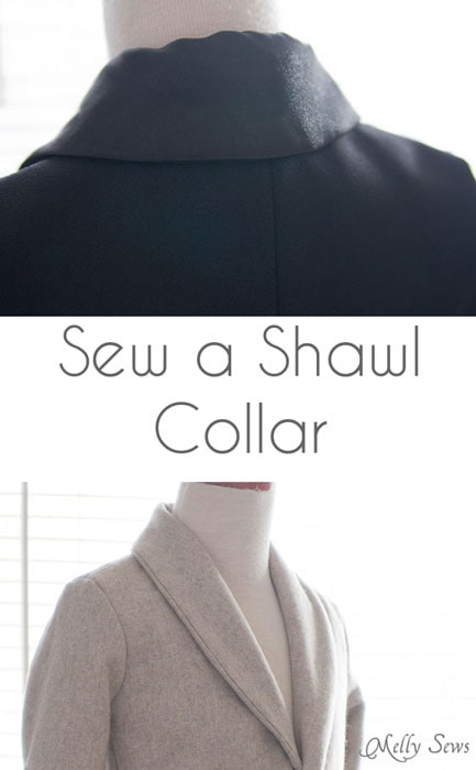 How to Sew a Shawl Collar - https://mellysews.com