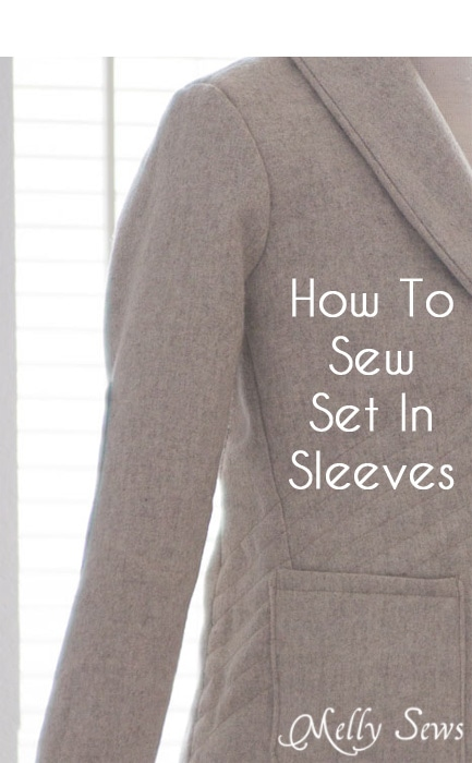Berkshire Blazer Sewalong - How to sew a set in sleeve - https://mellysews.com
