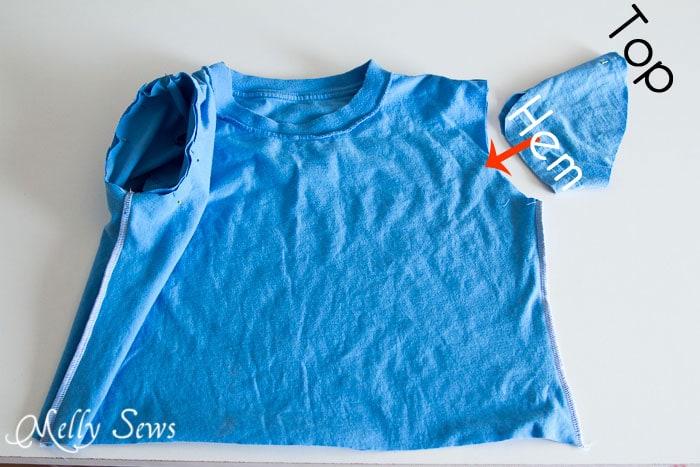 Step 6 - easy t-shirt dress by https://mellysews.com