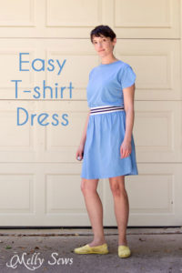Sew an easy t-shirt dress -perfect to throw on for warm spring and summer days - https://mellysews.com