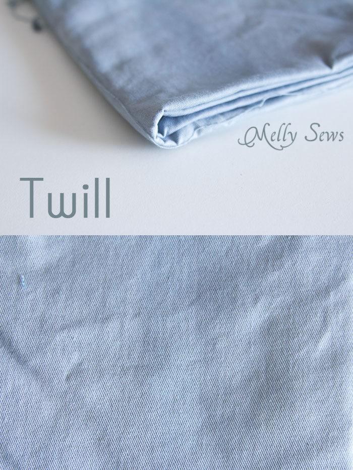 Twill - Suit Fabrics - http://mellysews.com