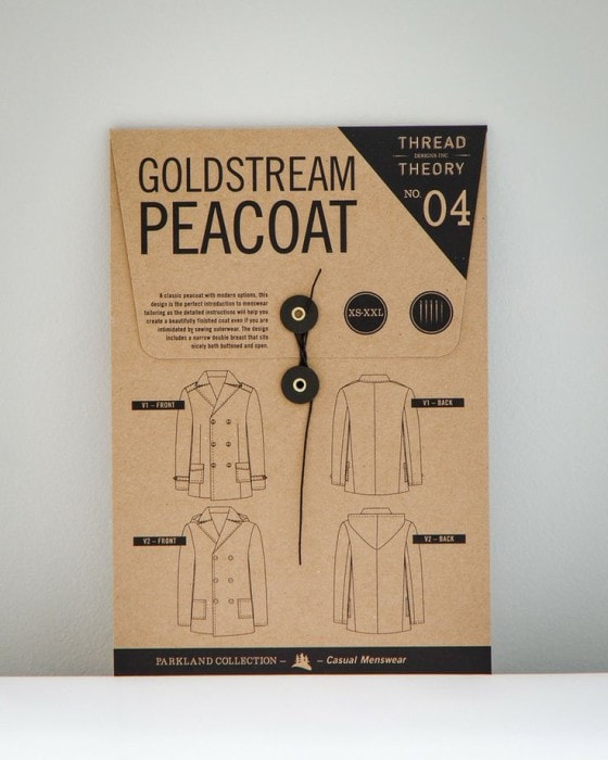 Goldstream Peacoat Pattern by Thread Theory