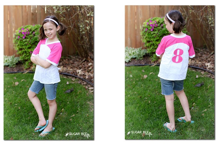 Girl's version of the Just a Jersey Pattern - PDF Sewing Pattern for Boys and Girls by Blank Slate Patterns sewn by Sugar Bee Crafts