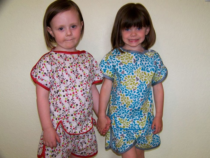 Tester Version - Sweet Pea Pajama Sewing Pattern by blankslatepatterns.com