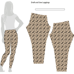 How to draft and sew leggings - One Little Minute Blog