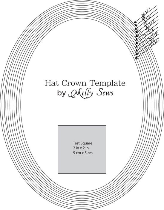 Hat crown template - how to sew a hat - mellysews.com