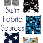Great tips and links for finding board short fabric to sew swimwear - and tips on sewing