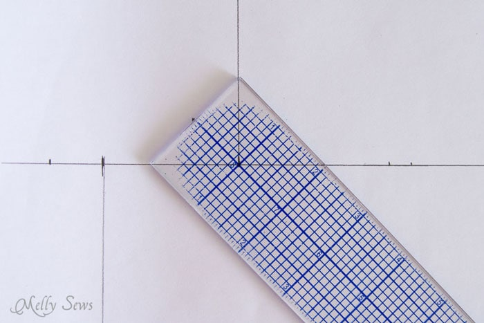 45 degree angle with quilting ruler