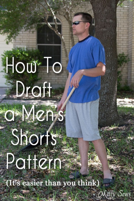 How to draft mens shorts pattern - https://mellysews.com