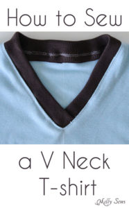How to Sew V Neck T-shirt - a Video and Picture Tutorial