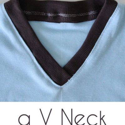 How to Sew a V Neck T-shirt