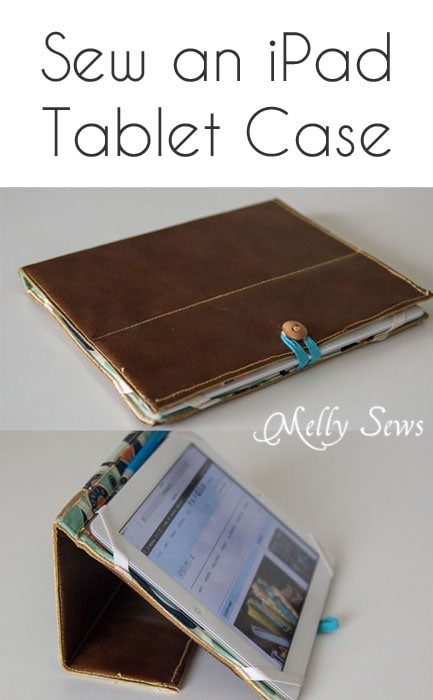 Sew an iPad case with this tutorial - Book Style iPad Case Tutorial by https://mellysews.com