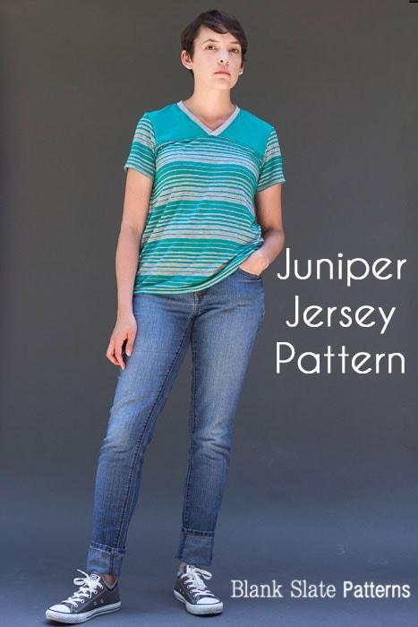 Juniper Jersey Women's T-shirt PDF Sewing Pattern - blankslatepatterns.com