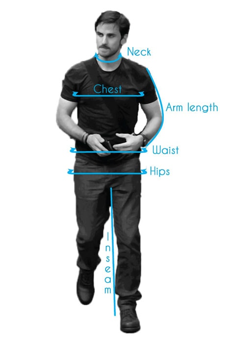 Mens Measurements