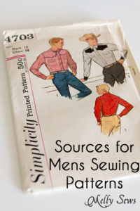 Where to find Men's Sewing Patterns - https://mellysews.com