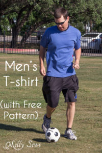 Men's t-shirt with free pattern - https://mellysews.com