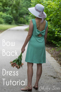 Bow Back Dress Tutorial - https://mellysews.com