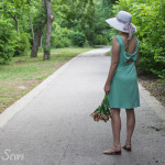 So pretty! Bow Back Dress Tutorial - http://mellysews.com