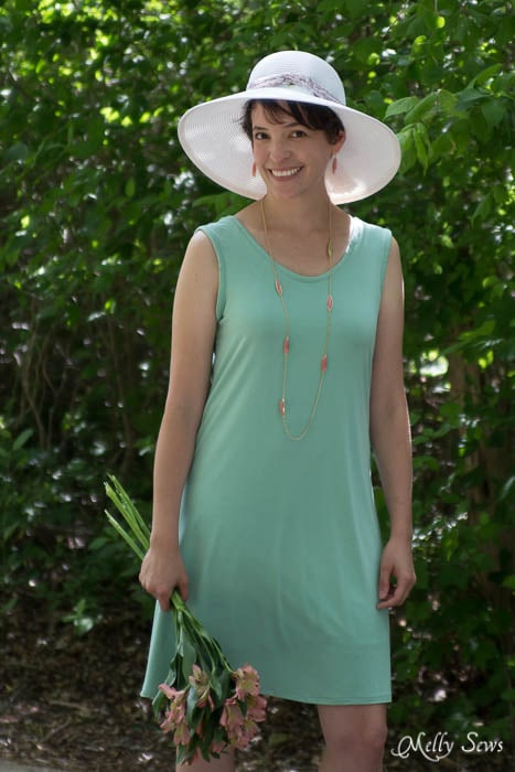 Comfy and cute - sundress and hat - mellysews.com