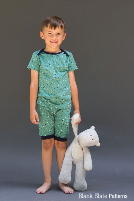 Sleepover Pajamas Sewing Pattern for Boys and Girls by Blank Slate Patterns