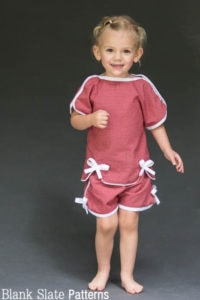 Sweet Pea Pajama Sewing Pattern by blankslatepatterns.com
