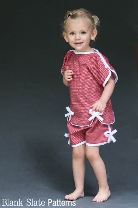 So adorable for summer - Sweet Pea Pajama Sewing Pattern by blankslatepatterns.com