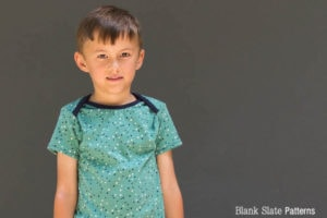 Lapped neck shirt - Sleepover Pajamas - PDF Sewing Pattern for Boys and Girls by Blank Slate Patterns