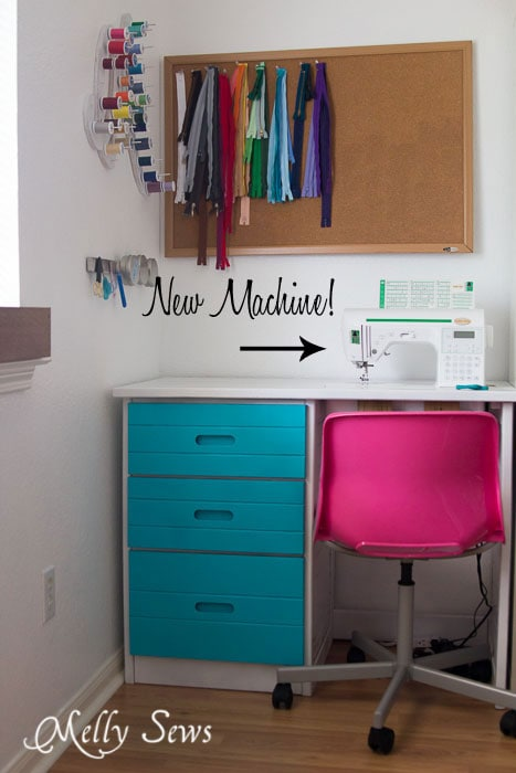 Colorful sewing corner - mellysews.com