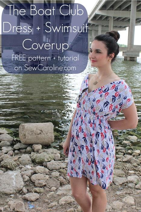 Swim Cover Up by Sew Caroline