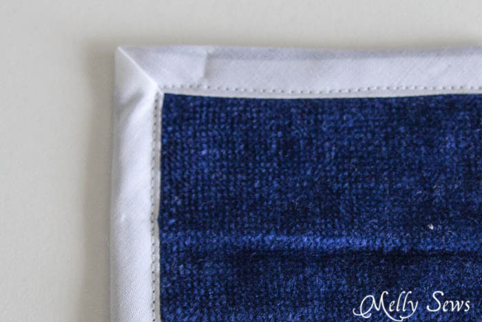 Bias mitered corner tutorial - Melly Sews