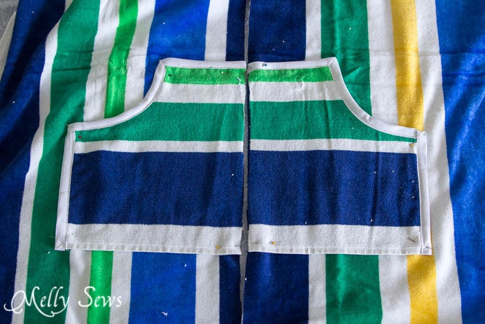 Pockets for swim cover up - Melly Sews