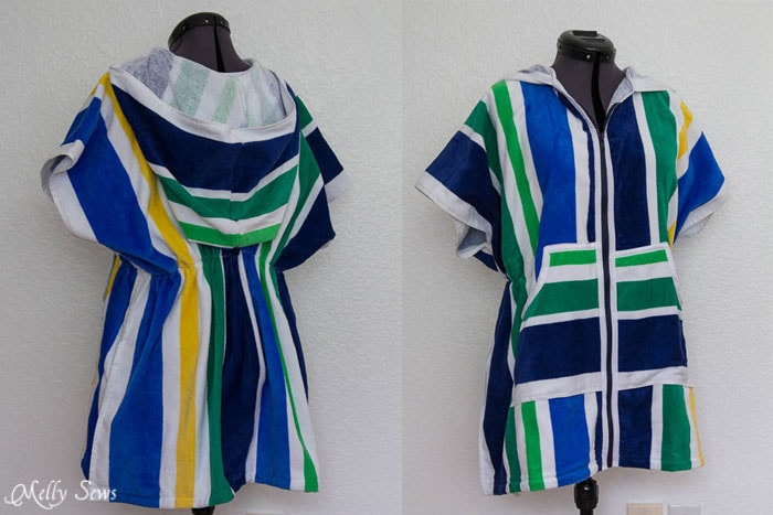 Sew easy! Swim Cover Tutorial - from 1 or 2 beach towels - Melly Sews