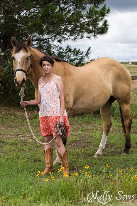 Just a girl and her horse - pillowcase dress tutorial - mellysews.com