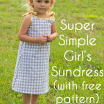 Super Simple and Free sewing patterns for a Girls Dress by mellysews.com