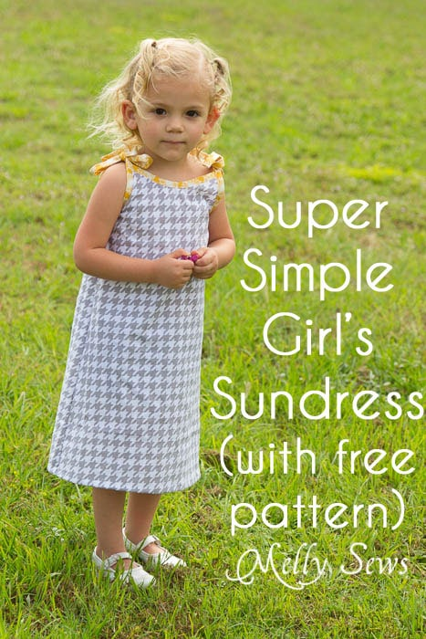 Free Girls Dress Pattern - (30) Days of Sundresses - Melly Sews