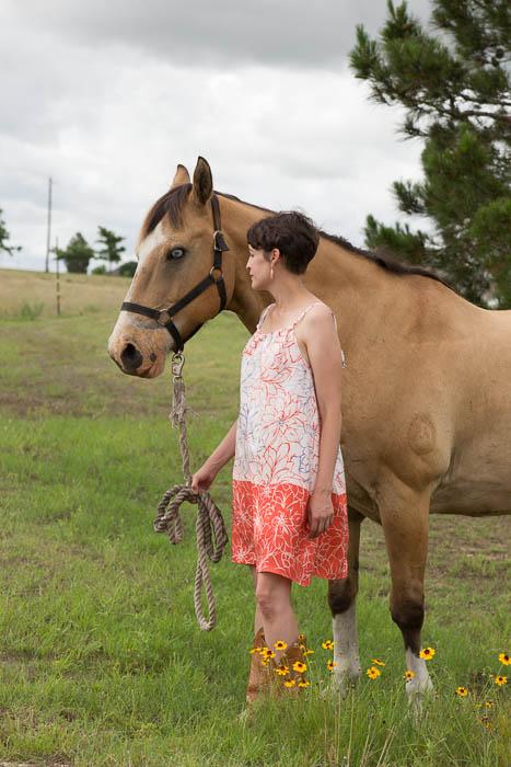 Girl, horse, pillowcase dress - Women's Pillowcase Dress Tutorial - mellysews.com