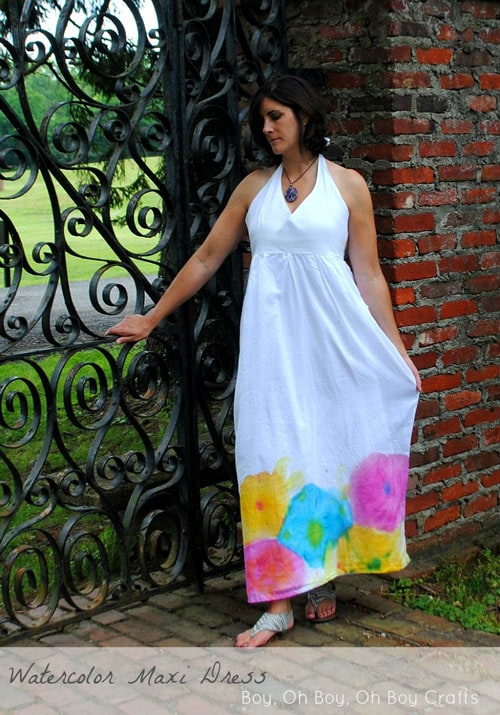 Water color Maxi Dress by Boy, Oh Boy, Oh Boy!