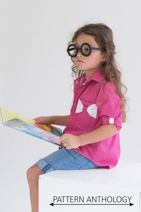 Bookworm Button Up Sewing Pattern for Boys and Girls - Blank Slate Patterns