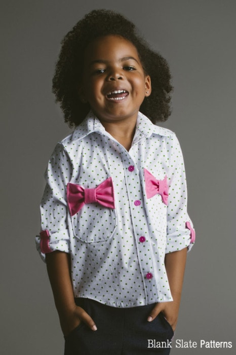 Girls Bookworm Button Up Sewing Pattern for Boys and Girls - Blank Slate Patterns
